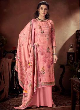 Refreshing Pink Festival Designer Palazzo Salwar Suit