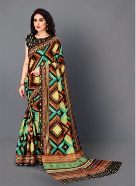 Regal Digital Print Silk Trendy Saree