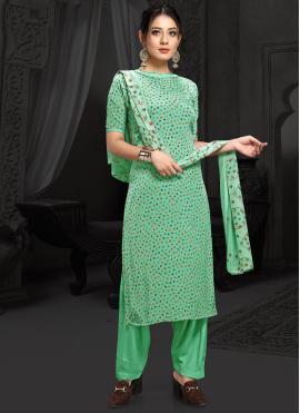 Remarkable Faux Crepe Casual Designer Salwar Kameez