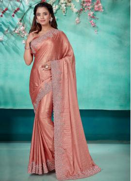 Renowned Shimmer Georgette Designer Traditional Saree