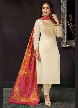 Royal Art Silk Embroidered Pant Style Suit