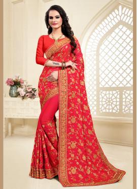 Royal Red Festival Classic Designer Saree
