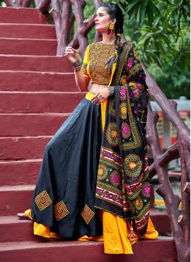 Ruritanian Embroidered Black Navratri Special