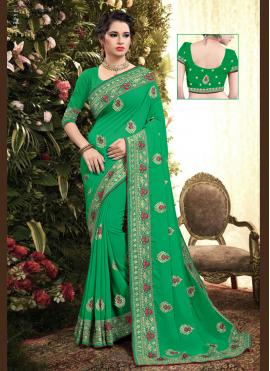 Ruritanian Embroidered Georgette Classic Saree
