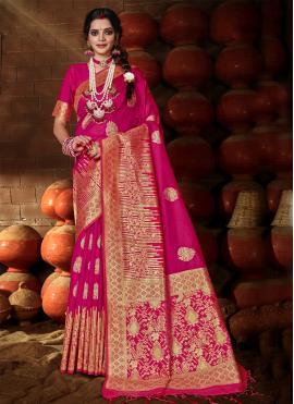 Ruritanian Weaving Rani Banarasi Silk Traditional Designer Saree