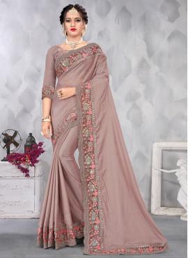 Savory Embroidered Designer Saree