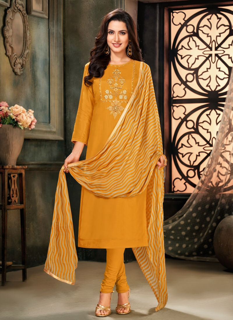 Scintillating Cotton Party Trendy Salwar Suit
