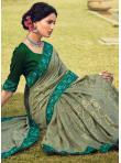 Sea Green Color Classic Designer Saree - 1