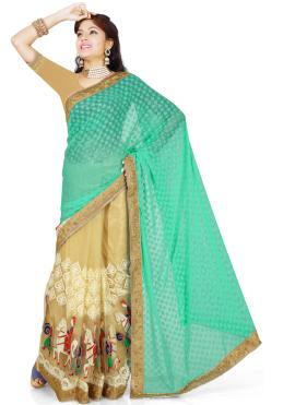 Sea Green Color Classic Saree
