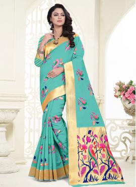 Sea Green Festival Classic Saree
