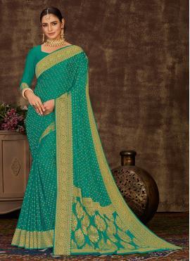 Sea Green Weaving Designer Saree