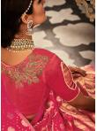 Sensational Orange and Rose Pink Banarasi Silk Lehenga Choli - 2