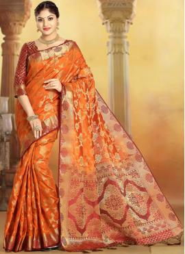 Sensational Weaving Party Designer Saree