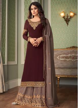 Shamita Shetty Faux Georgette Designer Palazzo Salwar Kameez