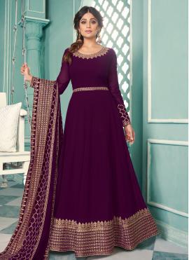 Shamita Shetty Floor Length Anarkali Suit For Sangeet