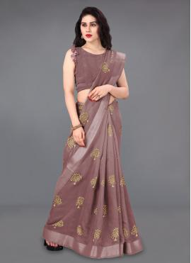 Sightly Foil Print Classic Saree