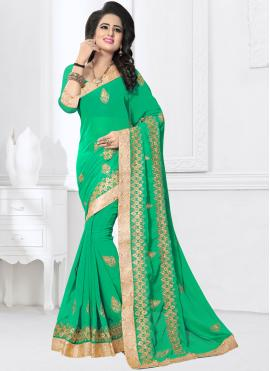 Sightly Patch Border Classic Saree