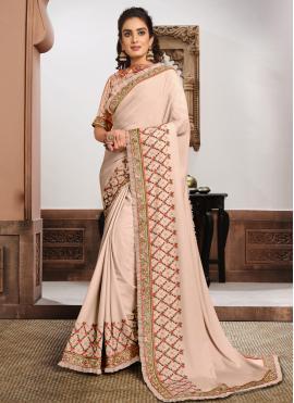 Silk Classic Saree in Pink