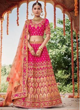 Silk Designer Lehenga Choli in Pink