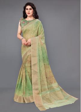 Silk Digital Print Multi Colour Classic Saree