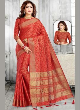 Silk Maroon Casual Saree