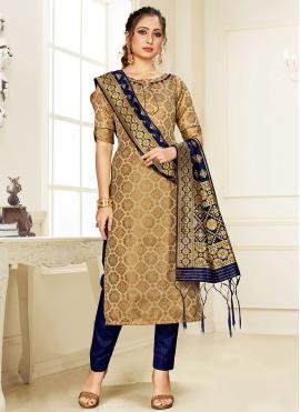 Silk Multi Colour Designer Suit
