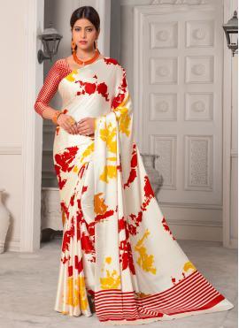 Silk Multi Colour Printed Classic Saree