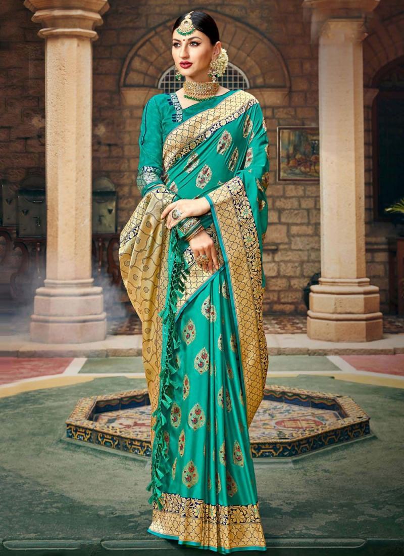 Silk Rama Weaving Traditional Saree