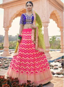 Silk Resham Rani Designer Lehenga Choli