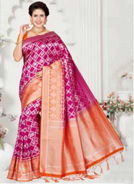 Silk Traditional Saree in Multi Colour
