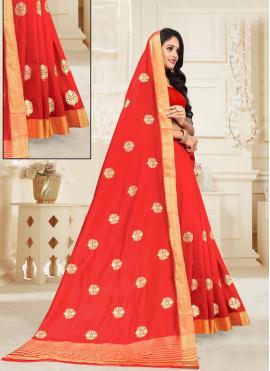 Silk Weaving Red Designer Traditional Saree