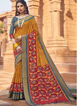 Silk Woven Multi Colour Traditional Designer Saree