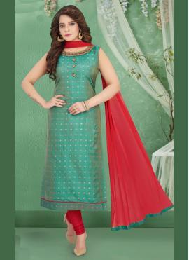 Snazzy Art Silk Trendy Salwar Suit