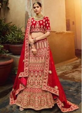Snazzy Red Wedding Lehenga Choli