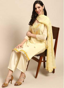 Snazzy Silk Fancy Designer Palazzo Suit