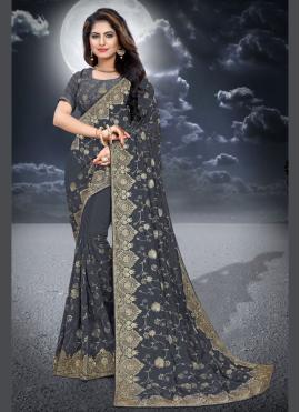 Sonorous Embroidered Classic Designer Saree