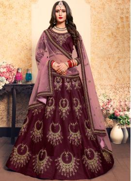 Sophisticated Brown Mehndi Trendy Lehenga Choli