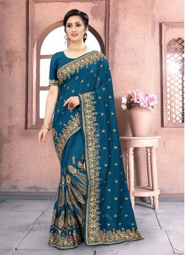 Sorcerous Embroidered Traditional Designer Saree