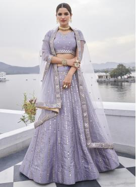 Sorcerous Mirror Lavender Designer Lehenga Choli