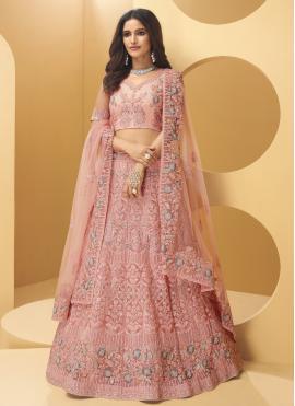 Sorcerous Pink Sequins Lehenga Choli