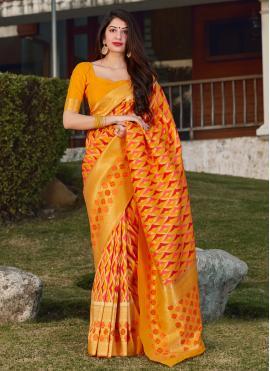 Sorcerous Weaving Banarasi Silk Designer Saree