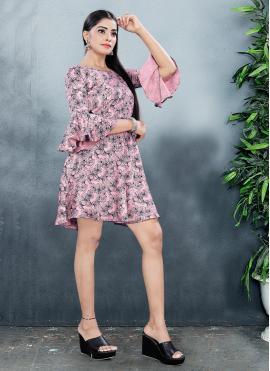 Sparkling Print Fancy Fabric Designer Kurti