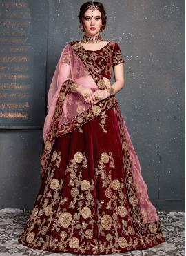 Sparkling Velvet Zari Designer Lehenga Choli