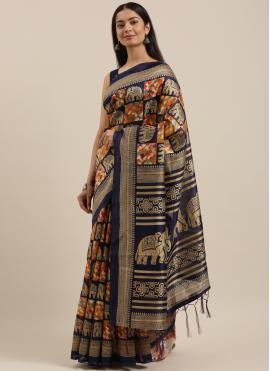 Spellbinding Art Silk Blue Woven Designer Traditional Saree