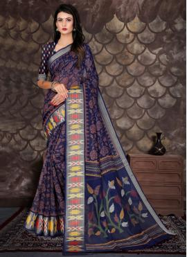 Staring Cotton Printed Designer Saree