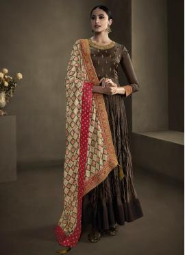 Staring Embroidered Foil Trendy Gown