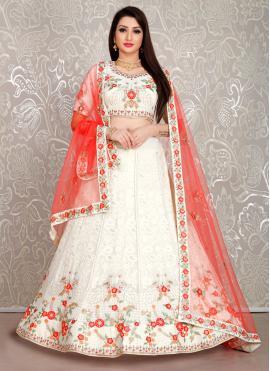 Staring White Designer Lehenga Choli