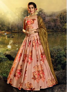 Stunning Peach Designer Lehenga Choli