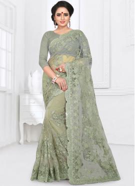 Stunning Resham Net Saree