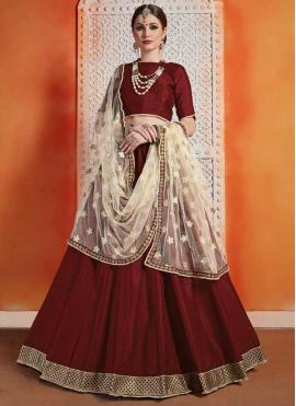 Stupendous Art Silk Reception Trendy Designer Lehenga Choli